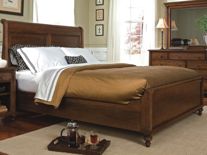 Savile Row Sleigh Bed Low Footboard Ormes Furniture
