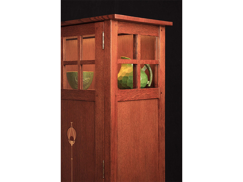 Stickley Collector Cabinet W Wood Doors Ormes Furniture
