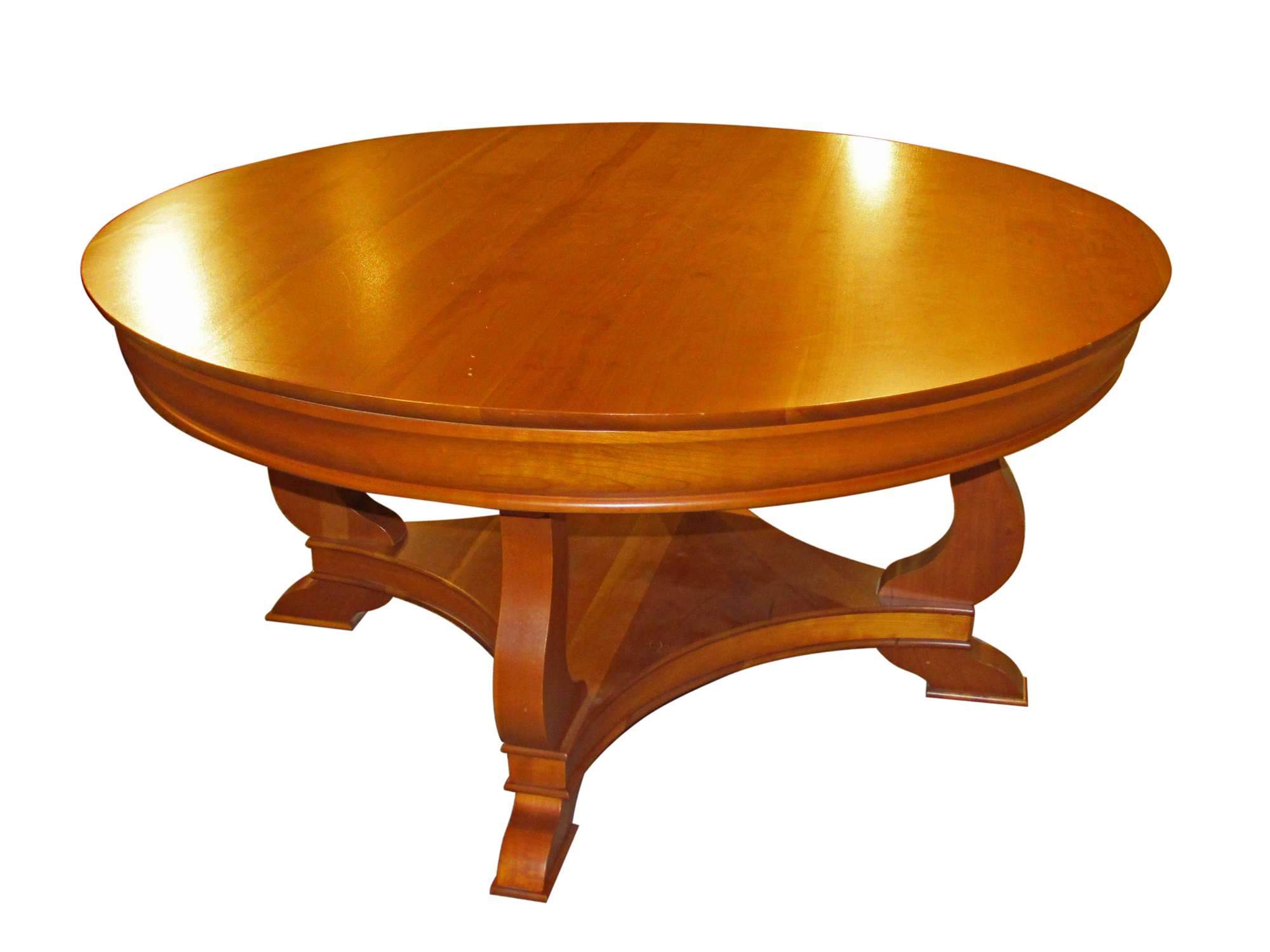 Louis philippe round cocktail table ormes furniture for Table louis philippe